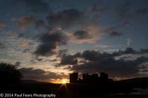 5:45am at Caerphilly Castle